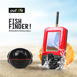 Portable Fish Finder with 100 M Wireless Sonar Sensor