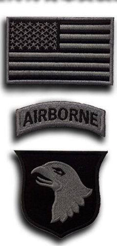 US Army Airborne Division Military Rank Patch Kit (3PCS/set)