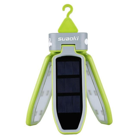 Solar Powered Clover Style Portable Camping Lantern