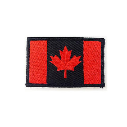 Embroidered Canada Flag Patch (black border)