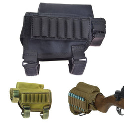 Tactical Buttstock Cheek Rest with Ammo Carrier