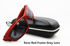 FRONTLINE High Impact Polarized Sunglasses (Rose Red with Grey Lens)