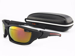 FRONTLINE High Impact Polarized Sunglasses (Black/Red with Red Lens)