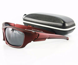 FRONTLINE High Impact Polarized Sunglasses (Crimson/Grey Lens)