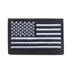 Embroidered American Flag Patch (Black)