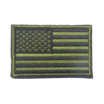 Embroidered American Flag Patch (Olive)
