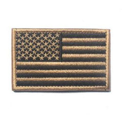 Embroidered American Flag Patch (Tan)