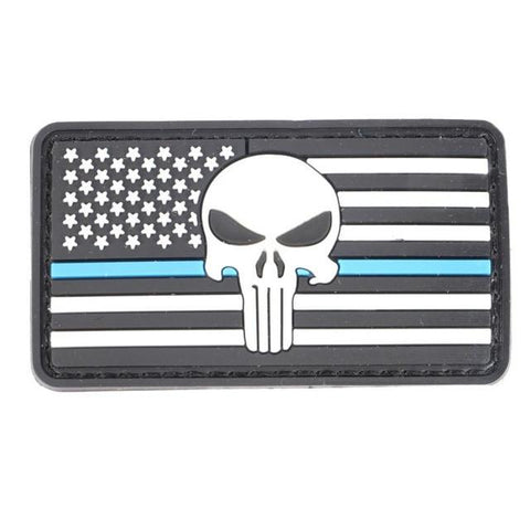 Military Morale Patch (White Flag Blue Line)