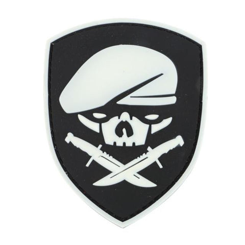 Military Morale Patch (White Skull)