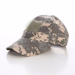 Tactical Headgear - Military Style Camouflage Baseball Caps Tactical Hat Velcro Badge Patch
