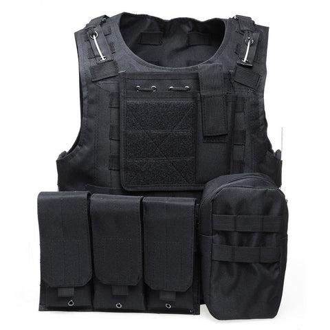 Tactical Vest With Molle Straps & Plate Carrier (7 Colors)