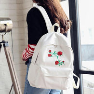 Backpack Women  Canvas Embroidery Flowers - www.DealsOnBackpacks.com