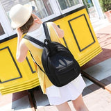 Backpack Women Bag Fashion Hollow Mesh School Bags - www.DealsOnBackpacks.com