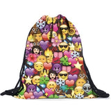 Emoji Drawstring bag - www.DealsOnBackpacks.com