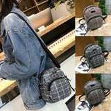 Backpack Women lady Girl Lattice Leather - www.DealsOnBackpacks.com