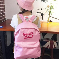 backpack Women Lady Canvas School Bag - www.DealsOnBackpacks.com