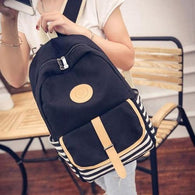 backpack Women Fashion Canvas Satchel Shoulder - www.DealsOnBackpacks.com