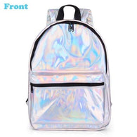 School Backpack Female  Women Fashion Colour Laser - www.DealsOnBackpacks.com