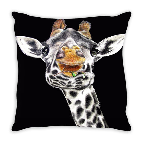 Throw Pillow.  Beautiful Giraffe Throw Pillow. Matching Canvas Wall Art Available