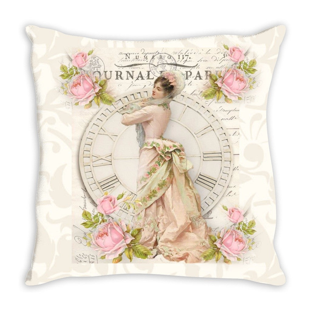 Throw Pillow.  Vintage Time