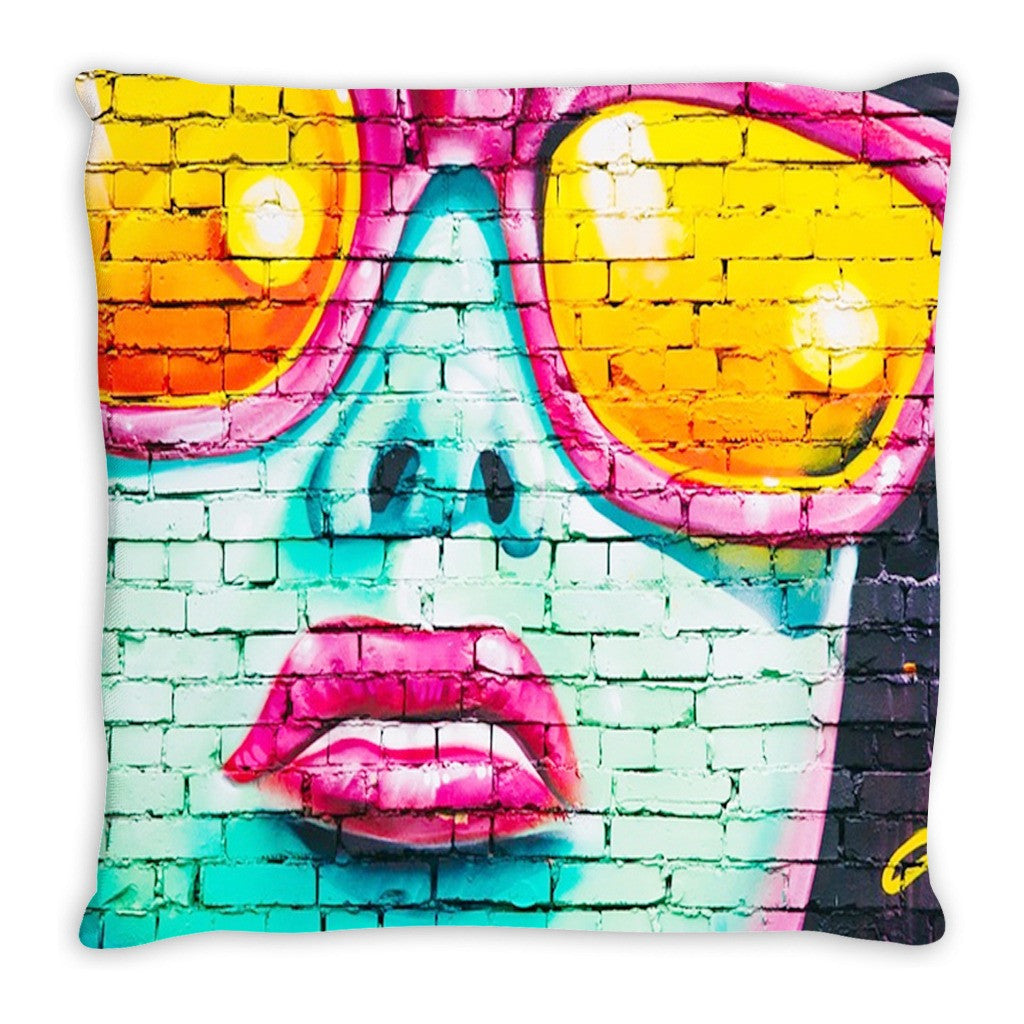 Throw Pillow. Pop Art Grafitti Throw Pillow.  Matching Canvas Art Work Available. Sold Seperately