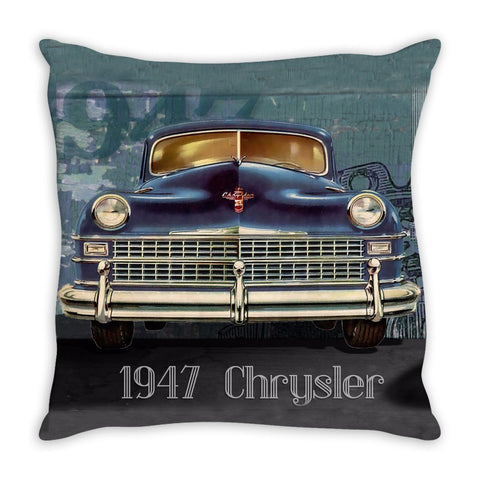 Throw Pillow.  Beautiful Vintage 1940's Chrysler Throw Pillow