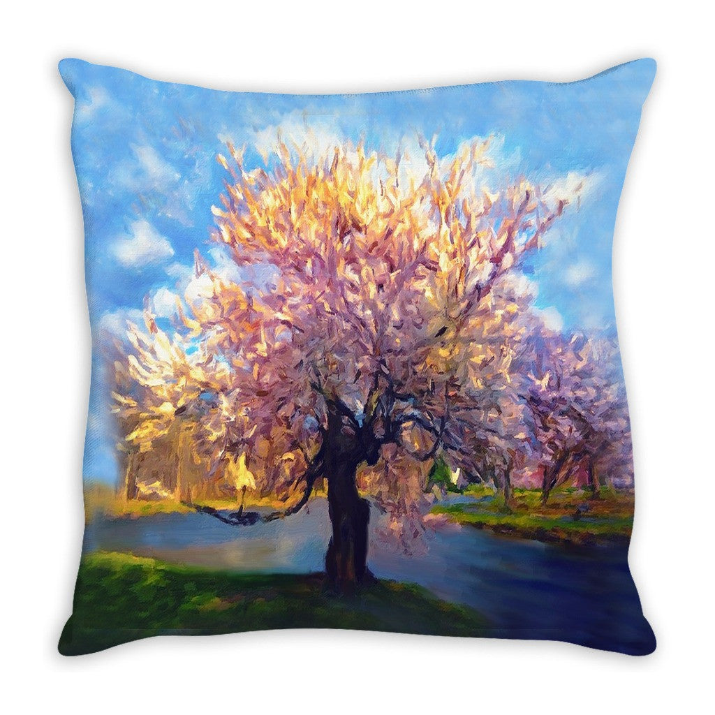 Throw Pillow. Beautiful Watercolor Tree