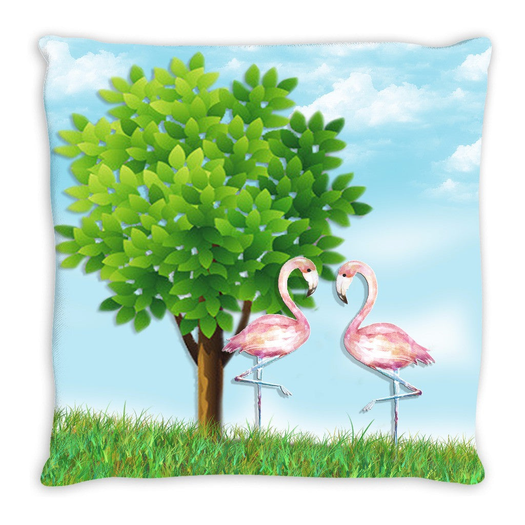 Throw Pillow.  Flamingo Throw Pillow