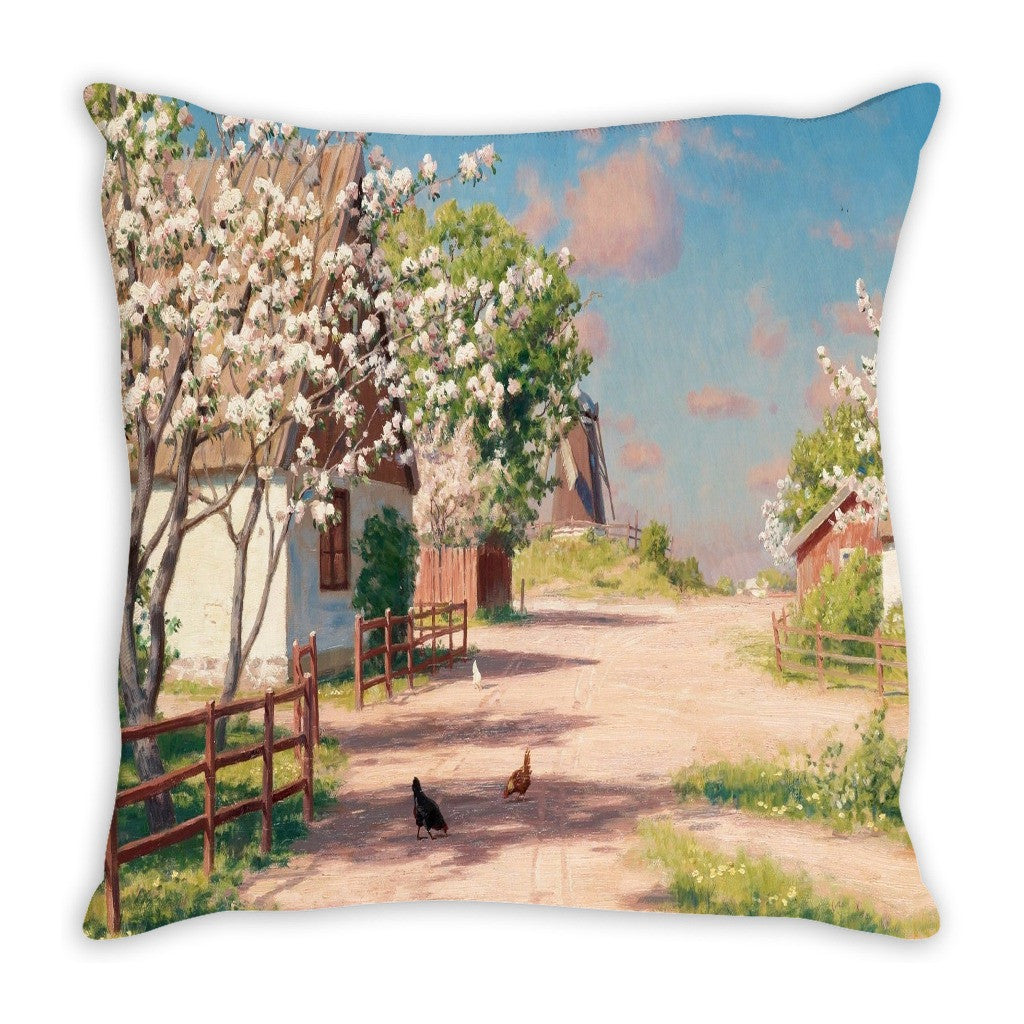 Throw Pillow.  Country Cottage Throw Pillow