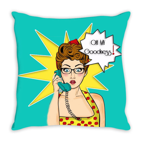Throw Pillow.  Retro Girl Throw Pillow.  Matching Retro Canvas Wall Art Available.