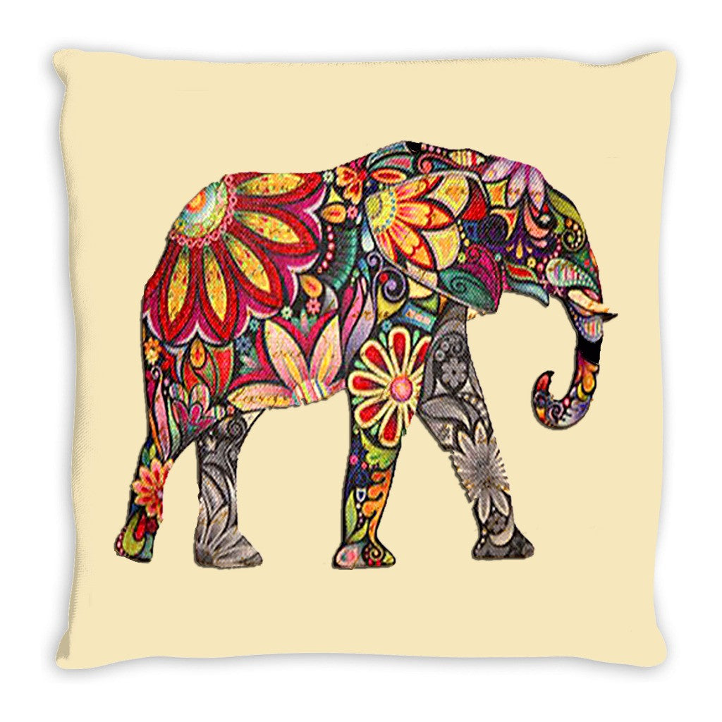 Throw Pillow.  Abstract Elephant