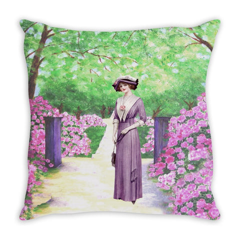 Throw Pillow.  Beautiful Vintage Garden Throw Pillow