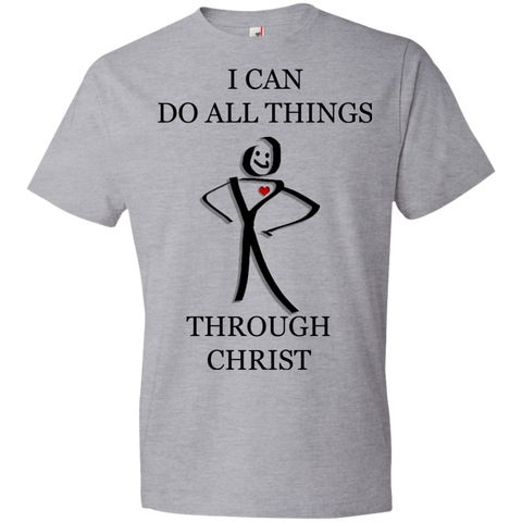 I can do all things through Christ T Shirt.  Christian T Shirt.  Christian T Shirts