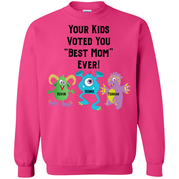Mothers Day Sweatshirt with personalized monsters