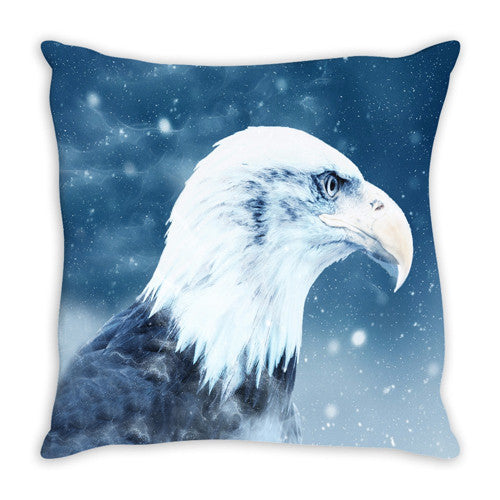 Throw Pillow.  Beautiful Eagle Throw Pillow.  Matching Canvas Art Work Available. Sold Seperately