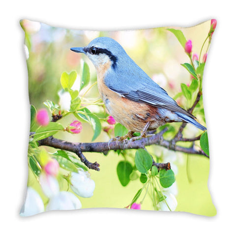 Throw Pillow.  Beautiful Watercolor Abstract Bird Thow Pillow