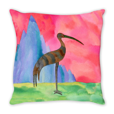 Throw Pillow.  Beautiful Watercolor Abstract Bird Thow Pillow.  Matching Canvas Art Work Available