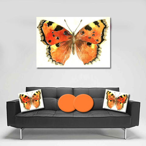 Canvas Wall Art. Beautiful Absract Butterfly Canvas Art.  Matching Throw Pillow Sold Serperately