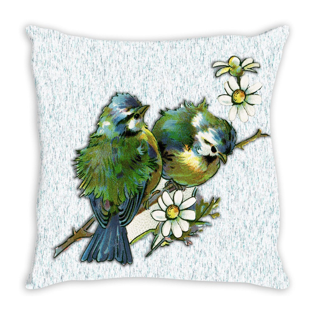 Throw Pillow.  Beautiful Vintage Bird Pillow