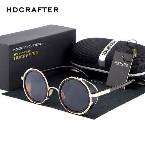 HDCRAFTER Mirror Lens Steampunk Sunglasses Unisex Mens/Womens UV 400 Glasses