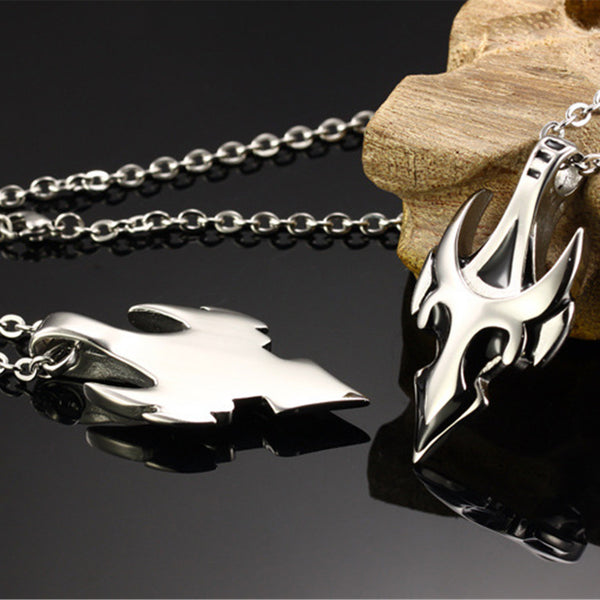Mens Arrow Pendant Collares Stainless Steel Chain Accessories
