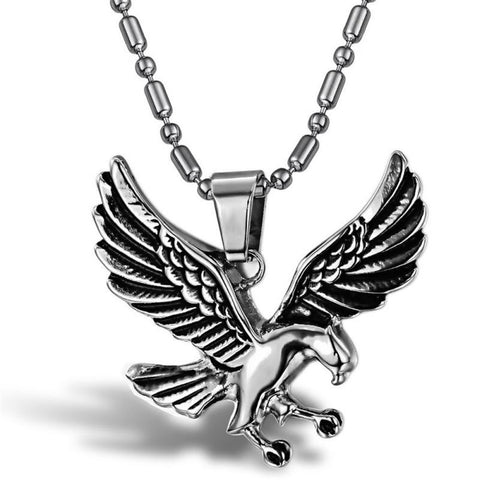 **Special Sales Price** Mens Stainless Steel Eagle Pendant & Necklace