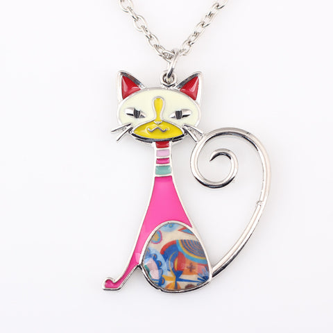 Cat Necklace. Beautiful Vibrant Colors!