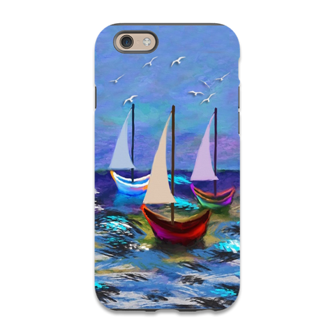 Beautiful Abstract Sailboats Phone Case,iphone 6,iphone 6plus,iphone7,iphone 7 plus,galaxy s5,S6,S7,Galaxy Note 3,4,5