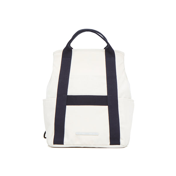 2 WAY BAG 295 WAX COTNA WHITE&NAVY - RAWROW