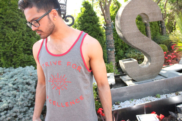 Strive For Excellence Tanktop (Gray/Red)
