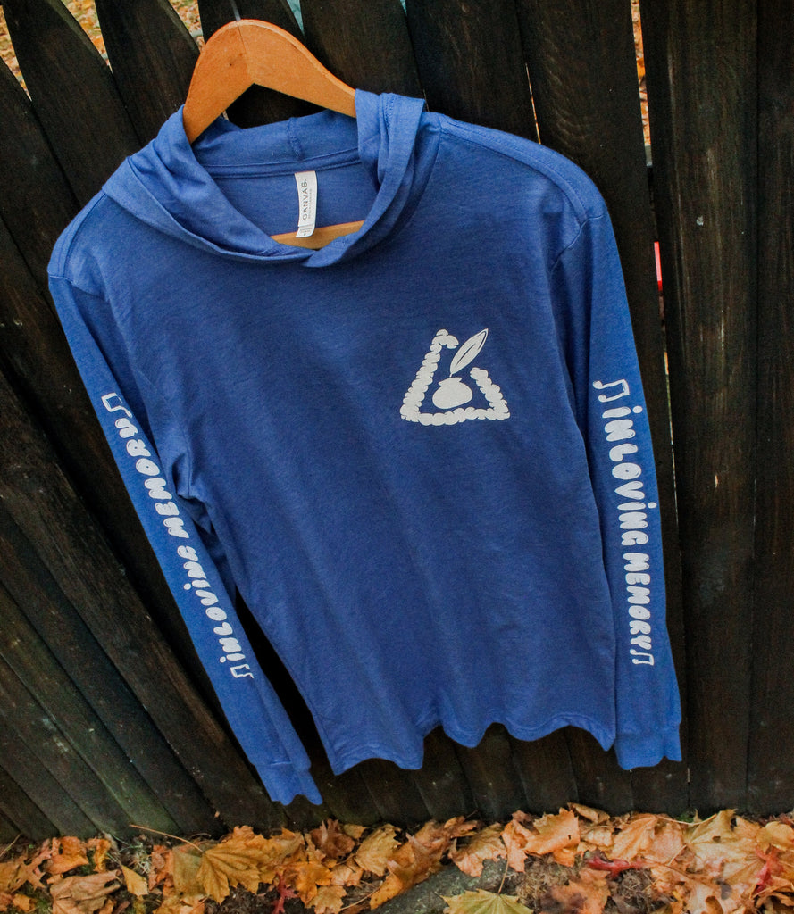 Blue Hooded Long Sleeve