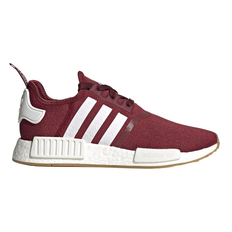Adidas Fx6787 (Mens) Nmd R1 7.5 / Burgundy White Sneakers