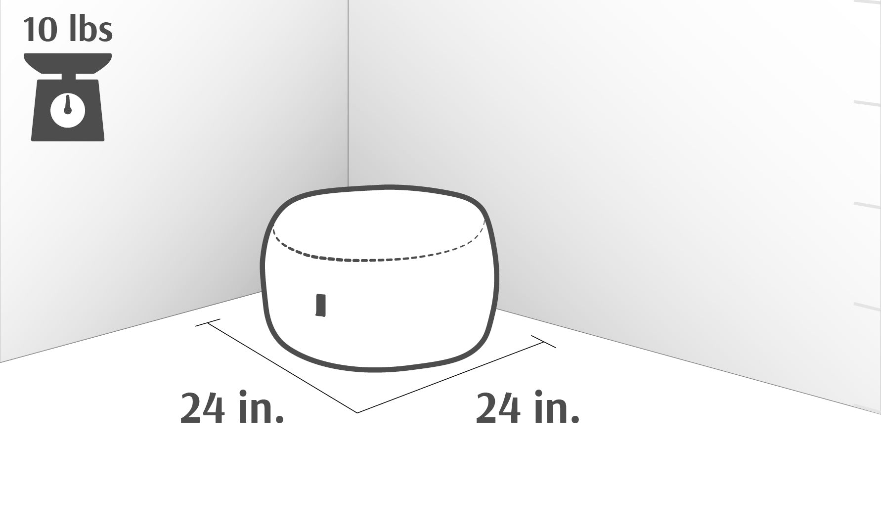 Pillow Pod Dimensions Drawing