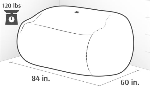 King Sofa Dimensions Drawing